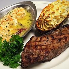 Sirloin Steak & Scampi
