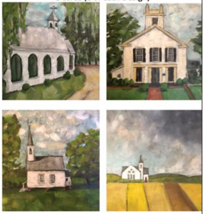 Notecards Set of 8 - Little White Church Series