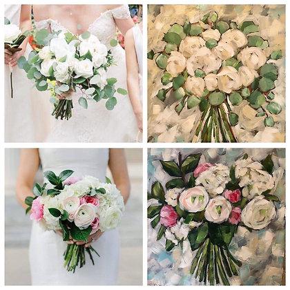 Custom Art Wedding Bouquet Painting