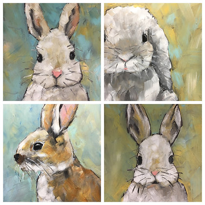 Notecards Set of 8 - Bunny Series
