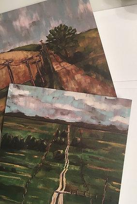 Set of 8 Blank Notecards Landscapes