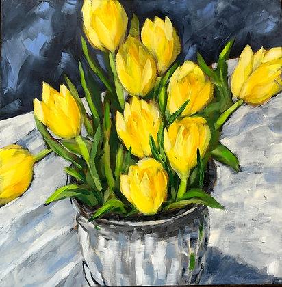 Sunshine Bouquet 12x12 Framed
