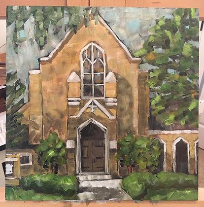 Wedding Venue Painting, Custom Church portrait, Anniversary Gift Wedding Present