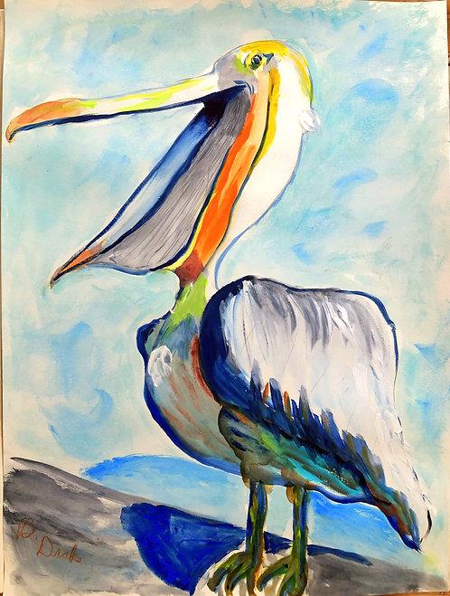 Talking Pelican by Betsy Drake Hamilton