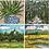 Thumbnail: Notecards Set of 8 - Green Coastal Series