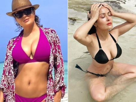 Salma Hayek Says She Has 'No Shame' Sharing Sexy Bikini Photos After Weight Loss