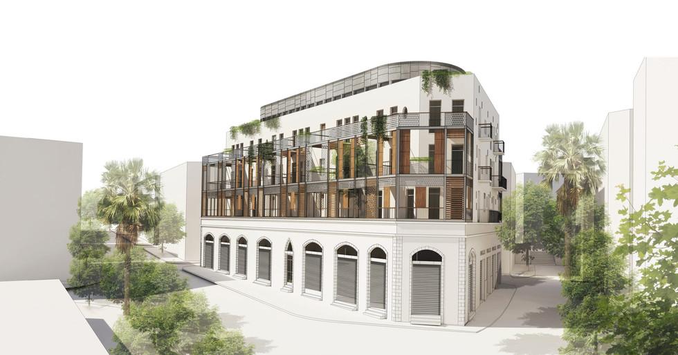 Preservation residential building   Tel Aviv   Kisselov Kaye architects.