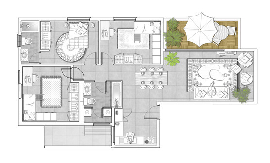 Marketing floor plan  | Tel Aviv