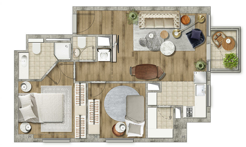 Marketing floor plan  | AR Lid Tzor
