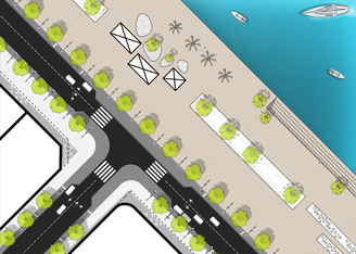 2D urban plan scheme | Lachish river