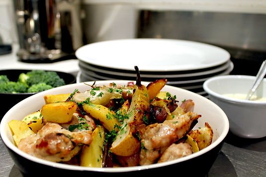 One Pan Chicken, Potato & Pear Roast Recipe
