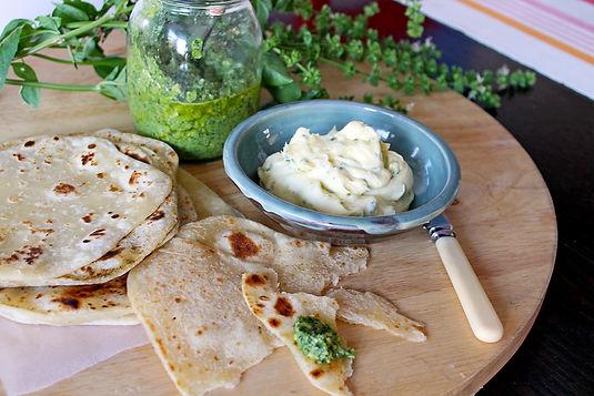 Basil Cashew Pesto & Truffle Mascarpone Dip Recipe