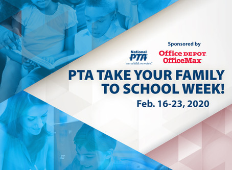 Take Your Family To School Week is Coming Soon!
