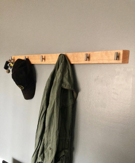 Modern Coat Rack (Oak)