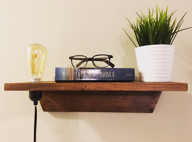 Floating Nightstand w/Cord