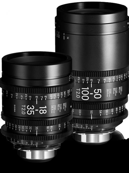 Sigma 18-35mm T2 & 50-100mm T2 Set