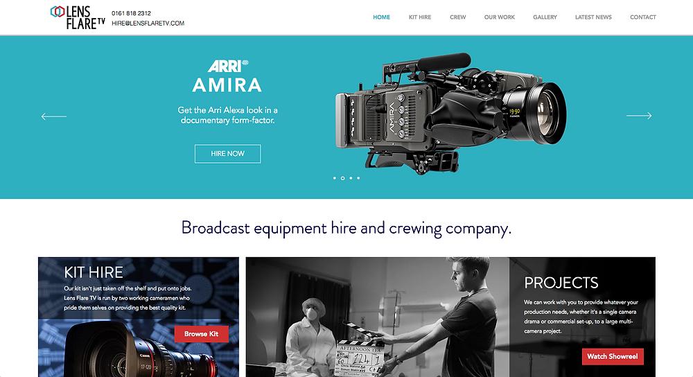 Lens Flare TV Website