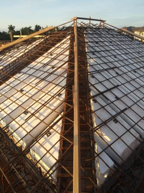 Framing for Concrete Roof