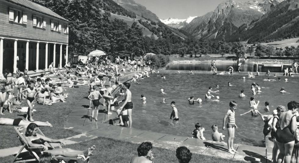 Sommer Strandbad Silvretta Canardhorn