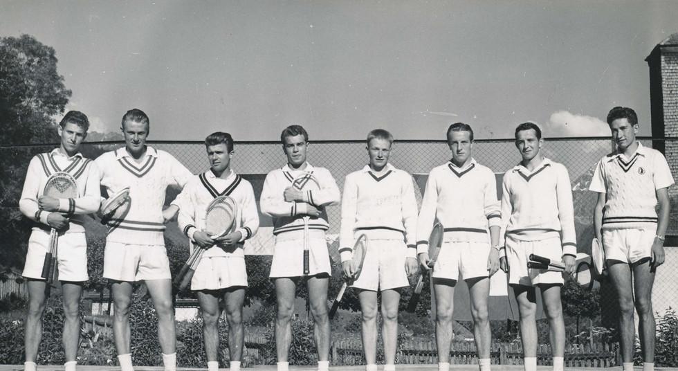 Sommer Sport Tennis, Juli 1953, Huber Feldbausch Biederla