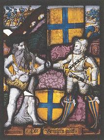 Wappenscheibe des Zehngerichtebundes, 1564_ aus FÅrsten, Vîgte und Gemeinden von Florian H