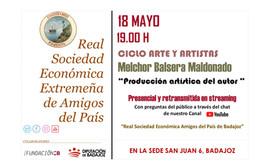 Melchor Balsera Maldonado, producción artística del autor. 18/05/2021 19.00 h.
