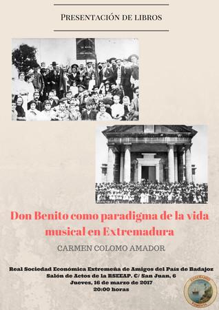 Presentación de libros de Dª. Carmen Colomo Amador