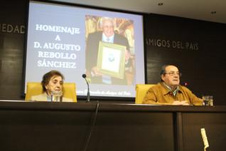Homenaje a D. Augusto Rebollo Sánchez, socio de número de la RSEEAP