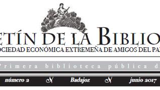Presentación del Boletín de la Biblioteca de la RSEEAP, nº2. 07/06/2017, 20.00 h.