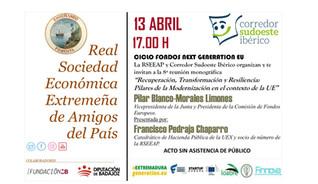 Ciclo Fondos Next Gen EU- 8ª reunión Monográfica - Recuperación y Modernización 13/04/2021, 17.00 h.