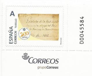 """Sello Personalizado """"Bicentenario de la RSEEAP de Badajoz"""""""