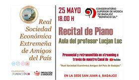 Recital de piano del Conservatorio Superior de Música Bonifacio Gil 25/05/2021, 18.00 h.