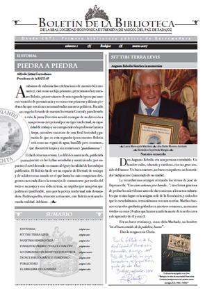 Presentación del Boletín de la Biblioteca de la RSEEAP