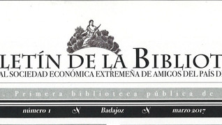Presentación del Boletín de la Biblioteca de la Real Sociedad Económica Extremeña de Amigos del País