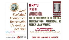 Audición del Departamento de Cuerda del Conservatorio de Música Juan Vázquez 11/05/2021, 17.30 h.