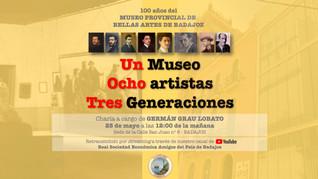 """Conferencia """"Un museo, ocho artistas, tres generaciones"""", 25/05/2020 12.00 h."""