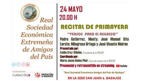 """Recital de Primavera """"Versos para el regreso"""", 24/05/2021, 20.00 h."""