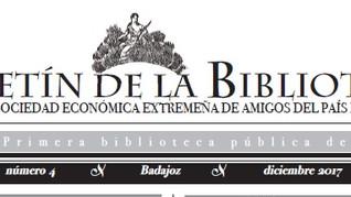 Presentación del Boletín de la Biblioteca de la RSEEAP, nº4. 18/12/2017, 19.00 h.