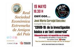 Café con José María Carvajal González. 19/05/2021, 18.30 h.