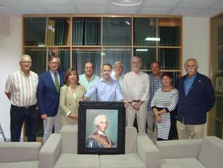 Donación de un cuadro de Carlos III a la RSEEAP