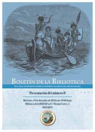 Presentación del Boletín de la Biblioteca de la RSEEAP, nº 8. 19/12/2018, 19.00 h.