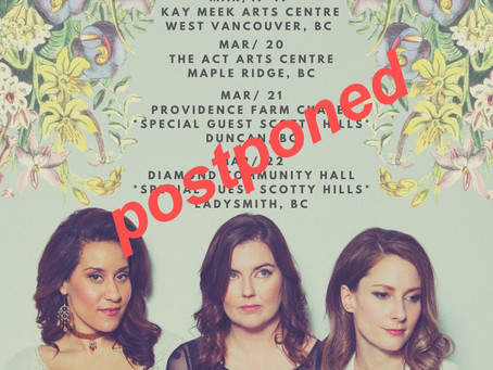 VANCOUVER ISLAND SHOWS POSTPONED