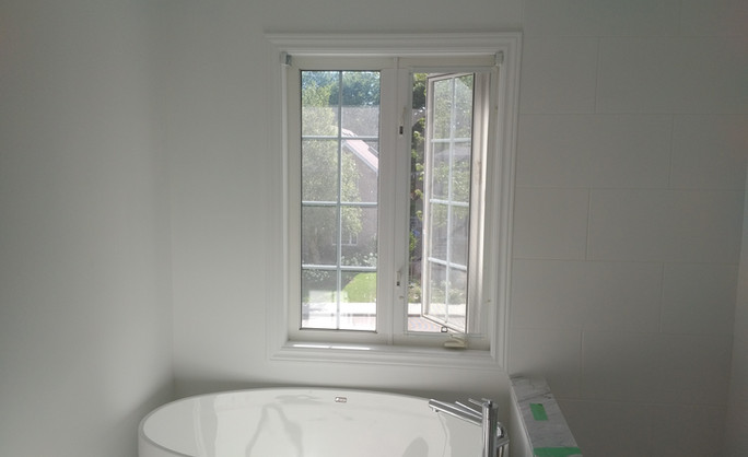 Free standing tub with shower