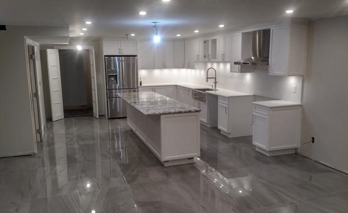 One huge kitchen
