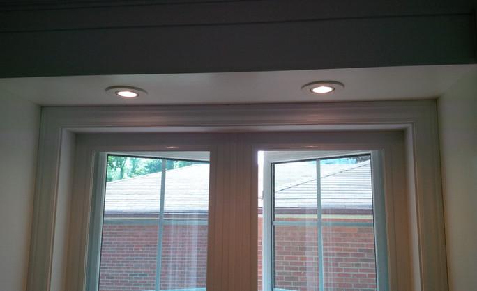 Lights above a window