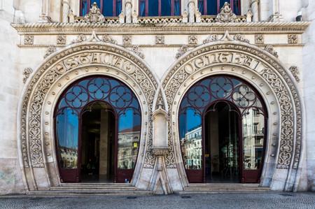 Gare ferroviaire du Rossio, entrée principale.
