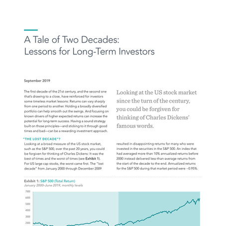 A Tale of Two Decades: Lessons for Long Term Investors