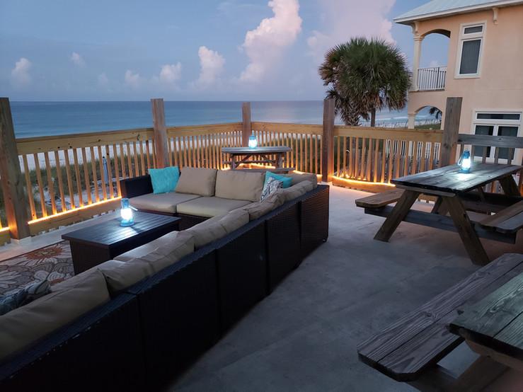 Surfside Deck View - Sun Rising over Sur