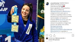 ESPORTE - Amanda Campeã Peso e Absoluto