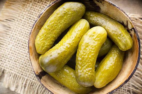 Огурец соленый, резаный ломтиками, 30 гр